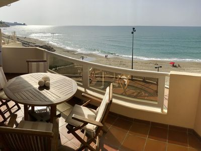 Photo for Spectacular apartment on the 1st line of the beach with incredible views !!! Free WiF