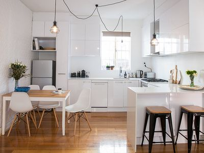 Photo for Superb St Kilda Location, 2BR Renovated Art Deco, Family-Friendly, Quiet Street