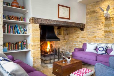 Enjoy a roaring fire in the enormous inglenook fireplace
