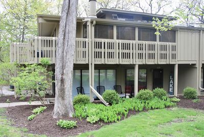 Abbey Springs villa with wrap around porches step to the clubhouse & beach