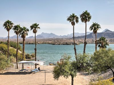 Photo for NEW! Mtn-View Lake Havasu Home w/ Boat Dock & Pool