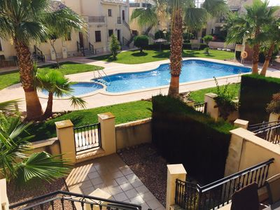 Photo for Beautiful Townhouse in La Finca Golf, with Wifi & Air Con overlooking Pool.