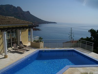 Photo for Dream house with private pool on French Riviera - spectacular sea view