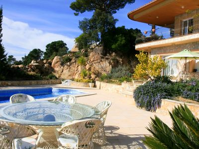 Photo for Can Dimas - House with spectacular views, barbecue and private pool. Wifi