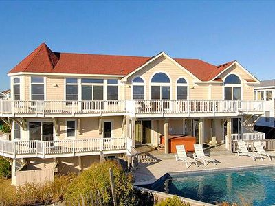 Photo for #404: OCEANFRONT in Corolla w/HtdPool, HotTub & RecRm w/PoolTbl