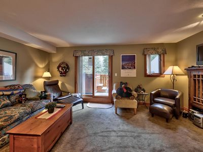 Photo for Multi level 2 bedroom condo, private Hot Tub, short walk to village core and ski lifts