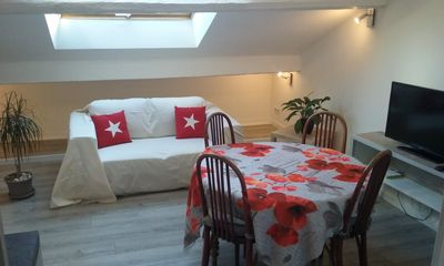 Photo for Apartment of Attic with a Chamber and a Double bed. In the Heart of the Port