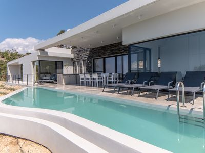 Photo for Olive Stone Villa, 3 Bedrooms, 3 Bathrooms, Private Pool, Stunning views