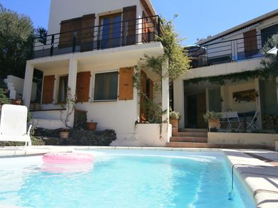 Photo for Banyuls near Collioure, private heated pool, short stroll to beach