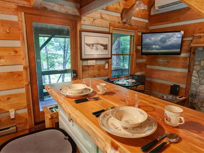 Photo for Cozy Cabin In Valle Crucis, Hot Tub, Creek, Fire Pit, Watauga River Access!