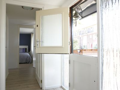 Photo for Modern and recently refurnished apartment on a Houseboat in Amsterdam