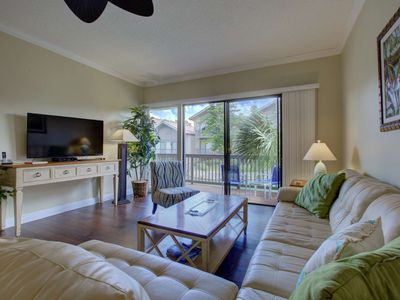 Photo for Across the Street From the Beach, WiFi, Newly Renovated, Large Condo w/ Single Car Garage
