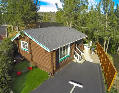 Photo for COLEMAN CREEK- AUTHENTIC LOG-CABIN + SPA + FOREST VIEWS