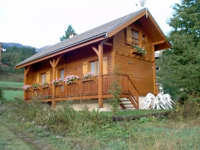 Photo for Lou Pitchoun is a typical wooden chalet Hautes-Alpes. It is rated 4 stars