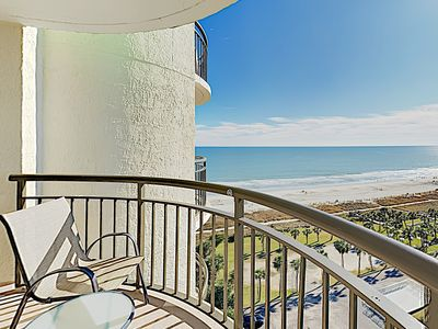 Photo for New Listing! Beachside Condo w/ Oceanfront Balcony, Hot Tub & Pools