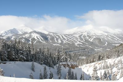Views of Breckenridge and the 10 mile range await