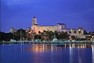 Enjoy a glass of wine at the Historic Vinoy Hotel. 2 miles from your this rental