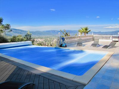 Photo for Luxurious and spacious villa with sublime views, 5 bedrooms, sleeps 10, Pool