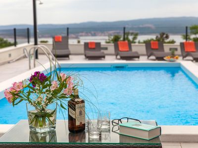 Photo for Exclusive Villa Rina Crikvenica 5 * with heated pool and panoramic sea view