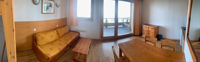 Photo for Nice apartment with living room with dining area with sofa bed for 2 people and TV. Open kitchen wit