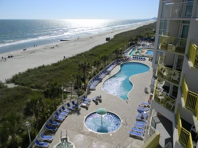 Photo for Direct Oceanfront! Lazy Rivers- Hot Tubs- Indoor/Outdoor Pools