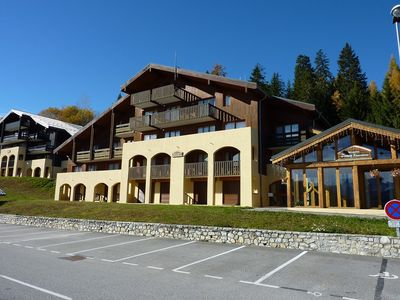 Photo for 180 ° view and close to the chairlift to the Grand Valmorel ski area St Francois ...