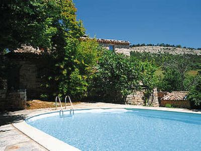 Photo for Old presbytery, large stone house with outbuildings, pool and garden