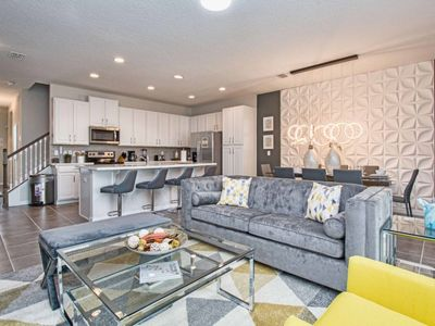 Photo for 8201SA Beautifully Furnished Brand New Townhome w/ Mickey and Minion Themed Rooms!  Splash Pool, BBQ, WIFI!!