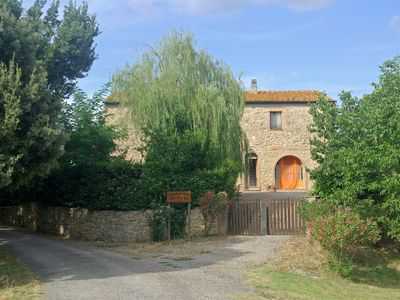 Photo for Farmhouse in the hills with a panoramic swimming pool and views of the ancient Rocca Silla
