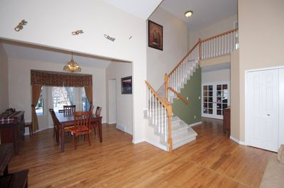 entry foyer and dining area