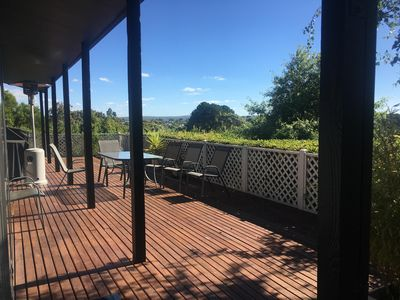 Photo for Centre of Daylesford on elevated position with hot tub and views