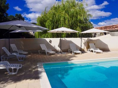 Photo for Modern Charentais gîtes, heated pool, free wifi. Kids can be kids & adults relax
