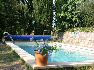 Photo for Historic cottage, sleeps 6, with pool, panoramic views, Ansouis
