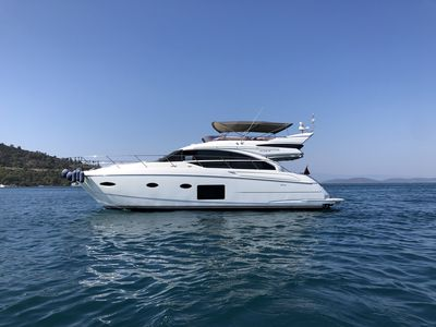 Photo for Stay at a beautiful 2017 Princess 52 Fly yacht in Bodrum 3 cabins for 6 guests