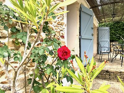 Photo for STONE COTTAGE, 2-4 PEOPLE, AT PROVENCE MAS 16TH CENT., POOL, GARDEN, PARKING