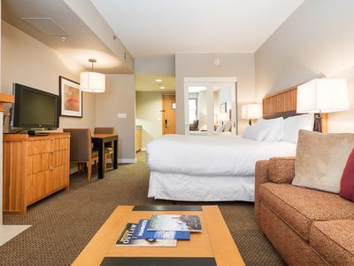 Photo for Luxury studio condo in Mammoth's only 5-star hotel -- steps from gondola, shopping and dining