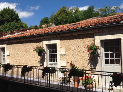 Photo for Riberac town centre apartment sleeps 4 - last few dates remaining 25 Aug-2 Sept