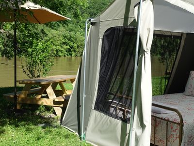 Photo for The Kodiak canvas tent at Copperhead Retreat Glamping