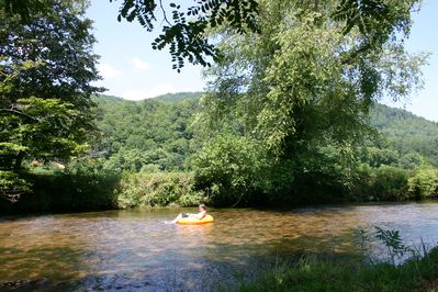 Tubing down our river