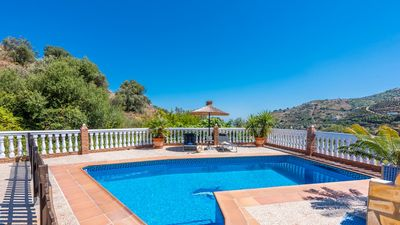 Photo for Holiday home with lovely rooftop terrace and fenced pool near Torrox