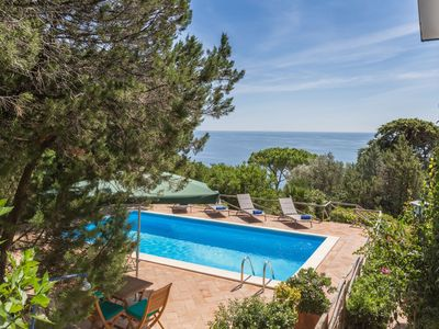 Photo for Villa Benedetta, villa with magnificent sea view and pool, nestled in the Circeo Park