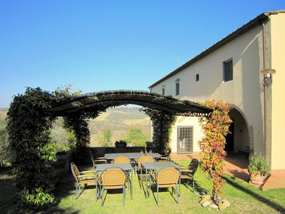 Photo for Cozy apartment in a farmhouse with swimming pool, in the Chianti area