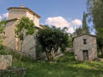 Photo for UMBRIA Medieval Farmhouse in the Menotre Valley, close to Foligno,for 10 people
