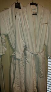 Luxury robes for all guests!