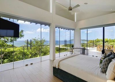 The million dollar view from the master bedroom