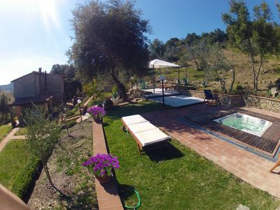 Photo for Luxurious villa in the tuscan countryside with views over Brunello vineyards.