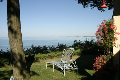 View from the front of the house looking out over Lake Erie.