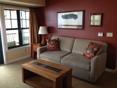 Living Room with Queen Sofa bed. Always Upgrading for Our Special Guests!