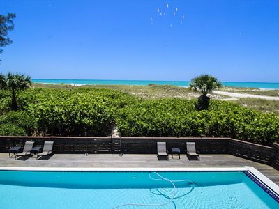Photo for BEACH FRONT, LUXURY, NORTH END HOME! PRIVATE POOL, UNOBSTRUCTED VIEWS OF GULF!!