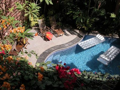 Photo for Well appointed villa- across from beach, private pool, kitchen, a/c, internet